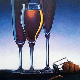 Glenda Stevens - Three Champagne Glasses