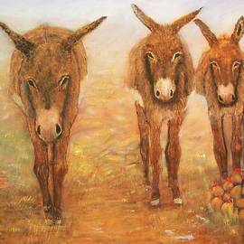 Loretta Luglio - Three Donkeys