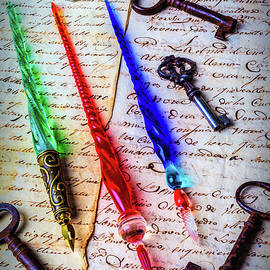 Three fine Glass Pens - Garry Gay