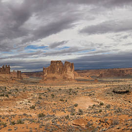 Brian Harig - Three Gossips And Courthouse Towers Panorama - Arches National Park - Moab Utah