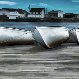 Janet Ballard - Three Grounded Boats