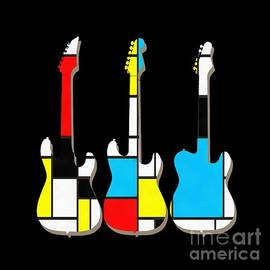 Three Guitars Modern Tee - Edward Fielding