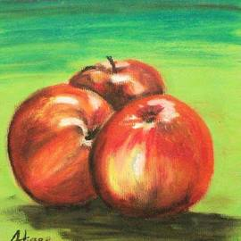 Alan Hogan - Three Red Apples