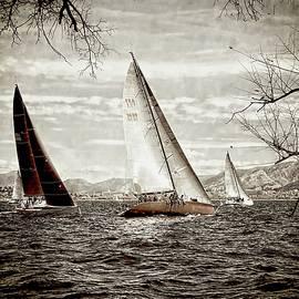 Jean Francois Gil - Three Sailboats, Nautical Theme