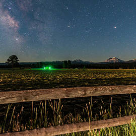 Three Sisters and Milky Way at Moonrise - Cat Connor