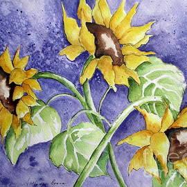 April McCarthy-Braca - Three Sunflowers