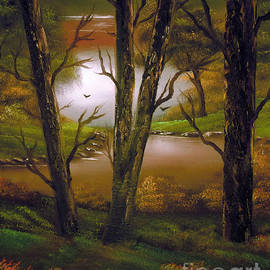 Cynthia Adams - Through the trees.