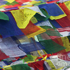 Nola Lee Kelsey - Tibetan Prayer Flags at Boudhanath Stupa Nepal
