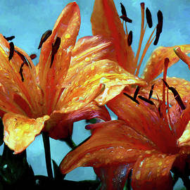 Ericamaxine Price - Tiger Lilies After the Rain - Painted