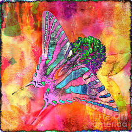 Debbie Portwood - Zebra Swallowtail Butterfly - Digital Paint 4
