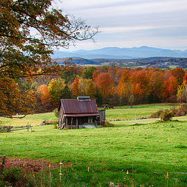 Jeff Folger - tin roofed shed in Vermont autumn