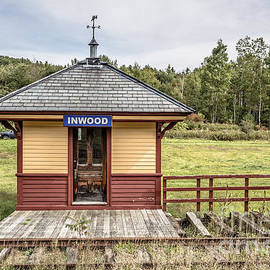 Tiny train station Barnet Vermont - Edward Fielding