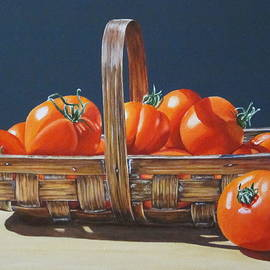 Lillian  Bell - Tomatoes in basket
