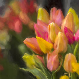 F Leblanc - Tons of Tulips - Painting