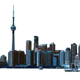 Nina Silver - Toronto Harbourfront Skyline with Dome and CN Tower