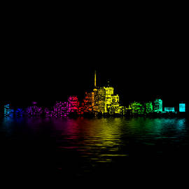 Brian Carson - Toronto Skyline Gradient Flood
