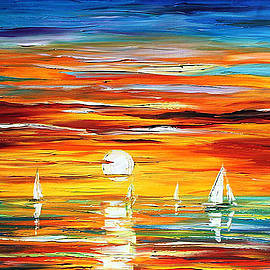 Leonid Afremov - Touch Of Horizon 2 - PALETTE KNIFE Oil Painting On Canvas By Leonid Afremov