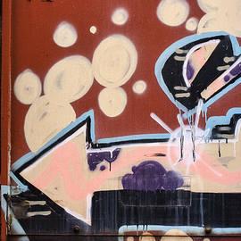 Train Graffiti Pale Arrow - Carol Leigh
