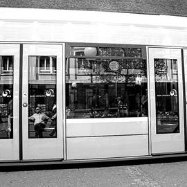 Martine Murphy - Tram Reflections in Black and White