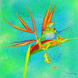 Ken Figurski - Tree Frog on Birds of Paradise Square