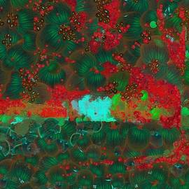 Catherine Lott - Tree Green and Red Vegged Out
