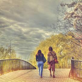 Joann Vitali - Tree Lined Footbridge - Fairfield Street Bridge - Boston