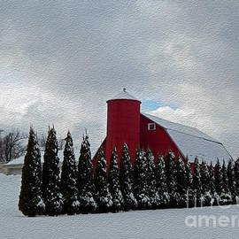 Linda Troski - Tree Lined Red Barn