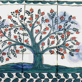 Dy Witt - Tree of Life--Portuguese Folk Art Style