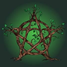 Katherine Nutt - Tree Pentacle in green