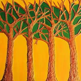 Jaleela Niaz - Trees . Metallic Series -3