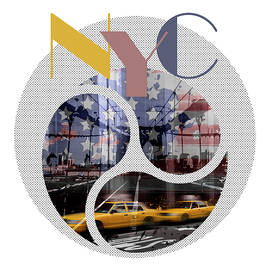 TRENDY DESIGN New York City Geometric Mix No 2 - Melanie Viola