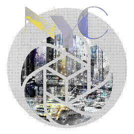 TRENDY DESIGN New York City Geometric Mix No 4 - Melanie Viola