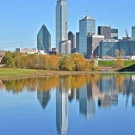 Frozen in Time Fine Art Photography - Trinity River View of Dallas