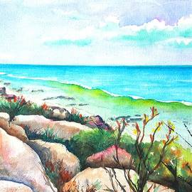 Carlin Blahnik - Tropical Beach Rocky Coastline