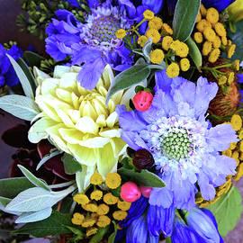 Lynn Bauer - Tropical Bouquet in Blues
