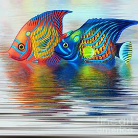 Tropical Fish Reflecting by Kaye Menner