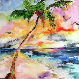 Ginette Callaway - Tropical Island Beach and Palm Tree