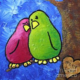 LimbBirds Whimsical Birds - True Love Heart