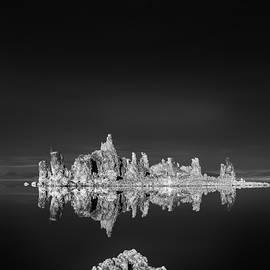 Joseph Smith - Tufas reflecting in Mono Lake
