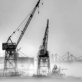 Joe Schofield - Tug with Cranes