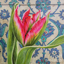 Fiona Craig - Tulipomania 10 Red Tulip and Iznik Tiles