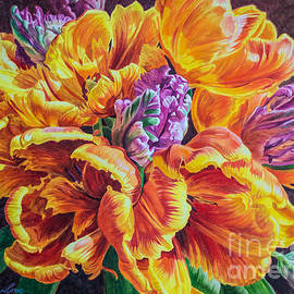 Fiona Craig - Tulipomania 12 Orange Parrots