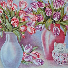 Jan Law - Tulips and Kittens