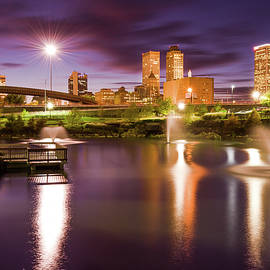 Gregory Ballos - Tulsa Lights - Centennial Park View