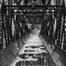 Tumwater Canoyn Pipeline Bridge Black and White - Mark Kiver