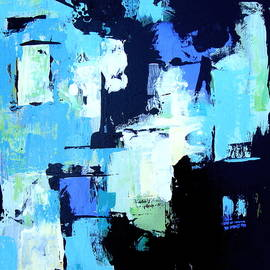 Brooke Baxter Howie - Turquoise Abstract #2
