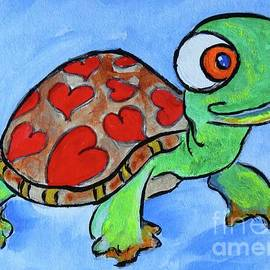 Ella Kaye Dickey - Turtle with a Big Heart - Original Painting Art Print #656