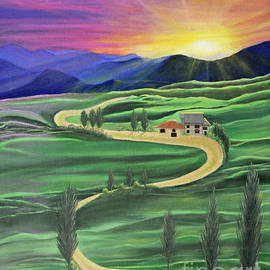 Cindy Lee Longhini - Tuscan Sunset