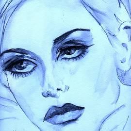 P J Lewis - Twiggy in blue
