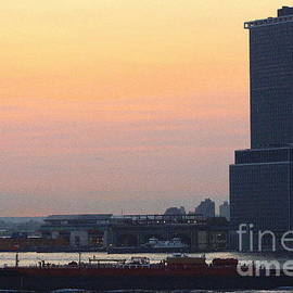 Photographic Art and Design by Dora Sofia Caputo -  The New York Harbor at Dusk
